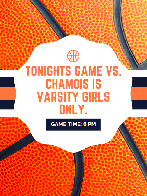 Basketball announcement for 1.15-varsity girls only