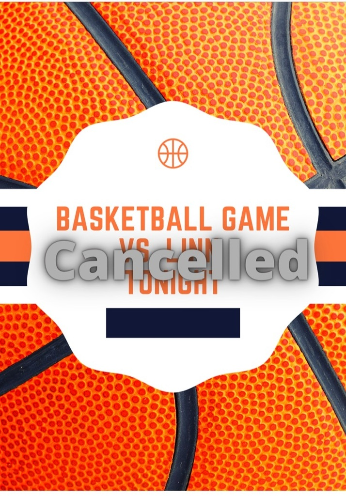 cancelled basketball game graphic